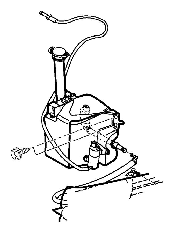 Jeep Grand Cherokee Grommet. Washer. Reservoir. Pump