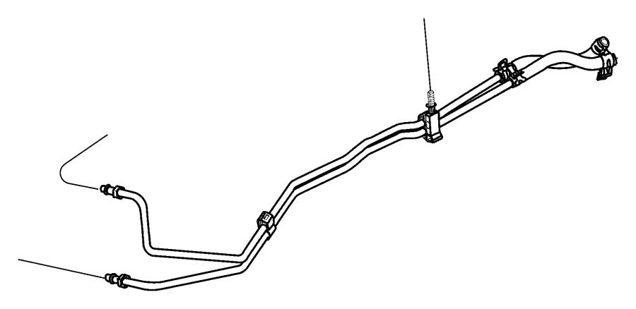 Jeep Wrangler Transmission Oil Cooler Line Clip. 3.7 LITER