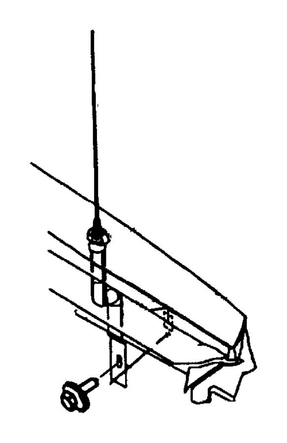 Dodge Intrepid Base. ANTENNA. Radio Antenna Base. BODY