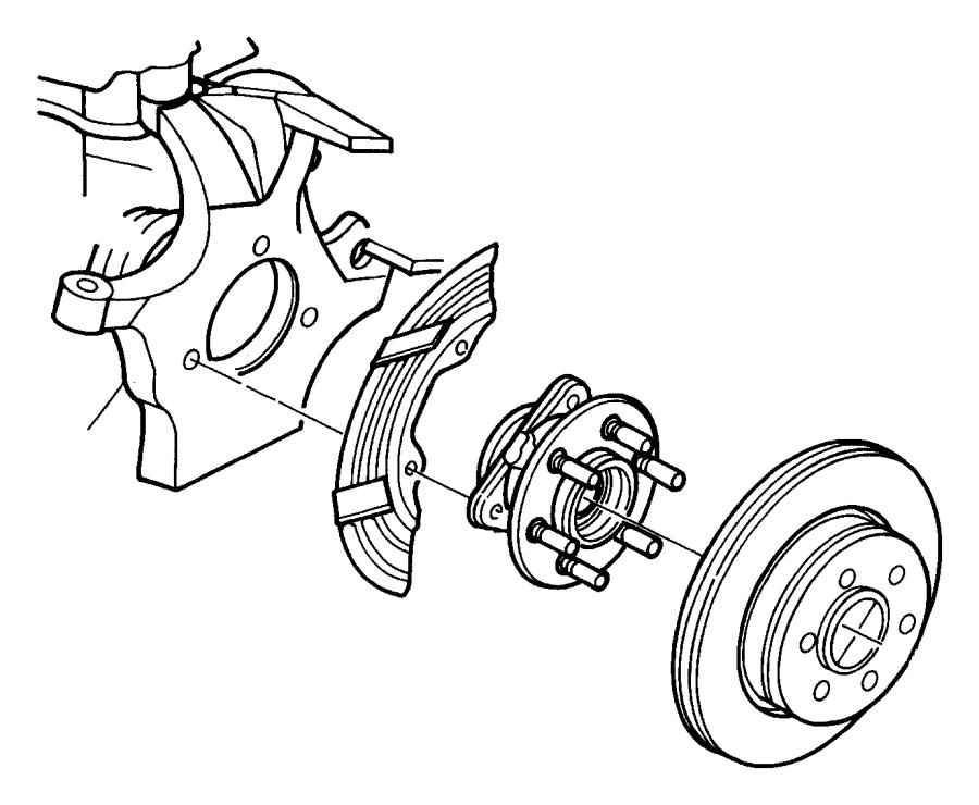 Dodge Dakota Axle Hub Mounting Bolt. 2WD. 4WD. BRAKE, Assy