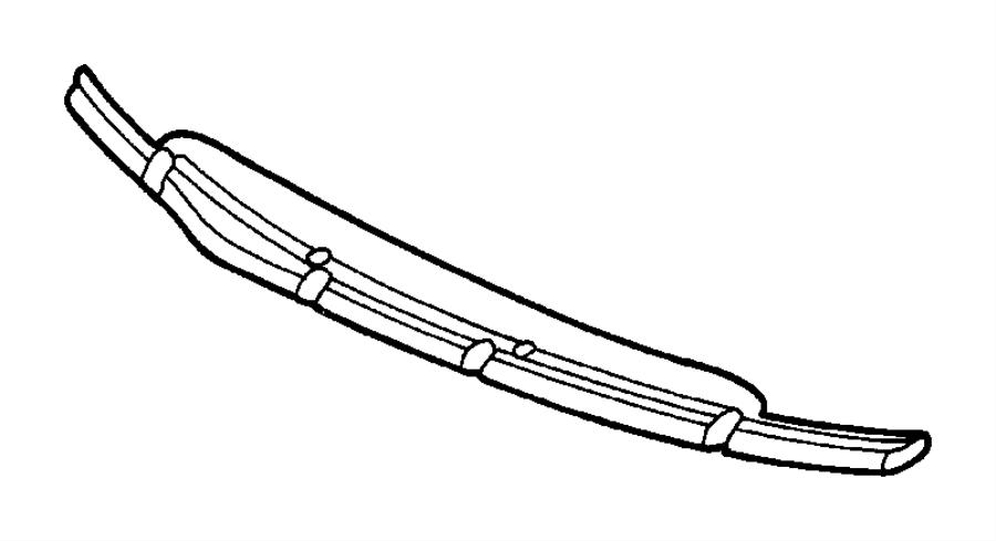 Dodge Caravan Cowl Cover. Grille, Front, FCA, Body