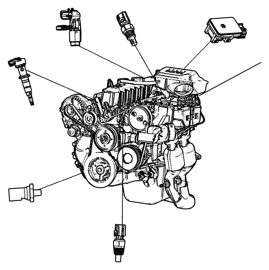 Jeep Cherokee Engine Camshaft Position Sensor. Sensor
