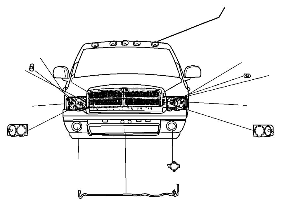 Dodge Ram 1500 Fog Light Wiring Harness. FOG LAMP JUMPER