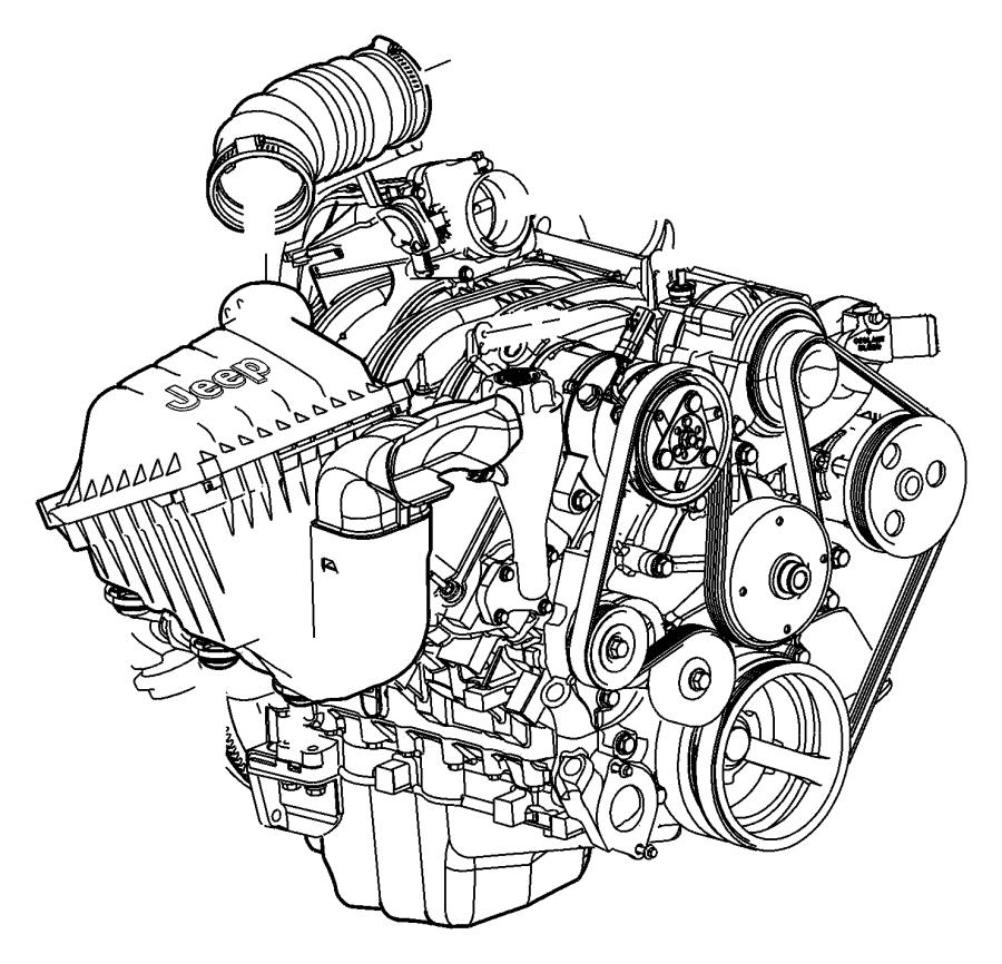 Dodge NITRO Grommet. Air. Cleaner. 2.4 LITER. 3.7 LITER. 4