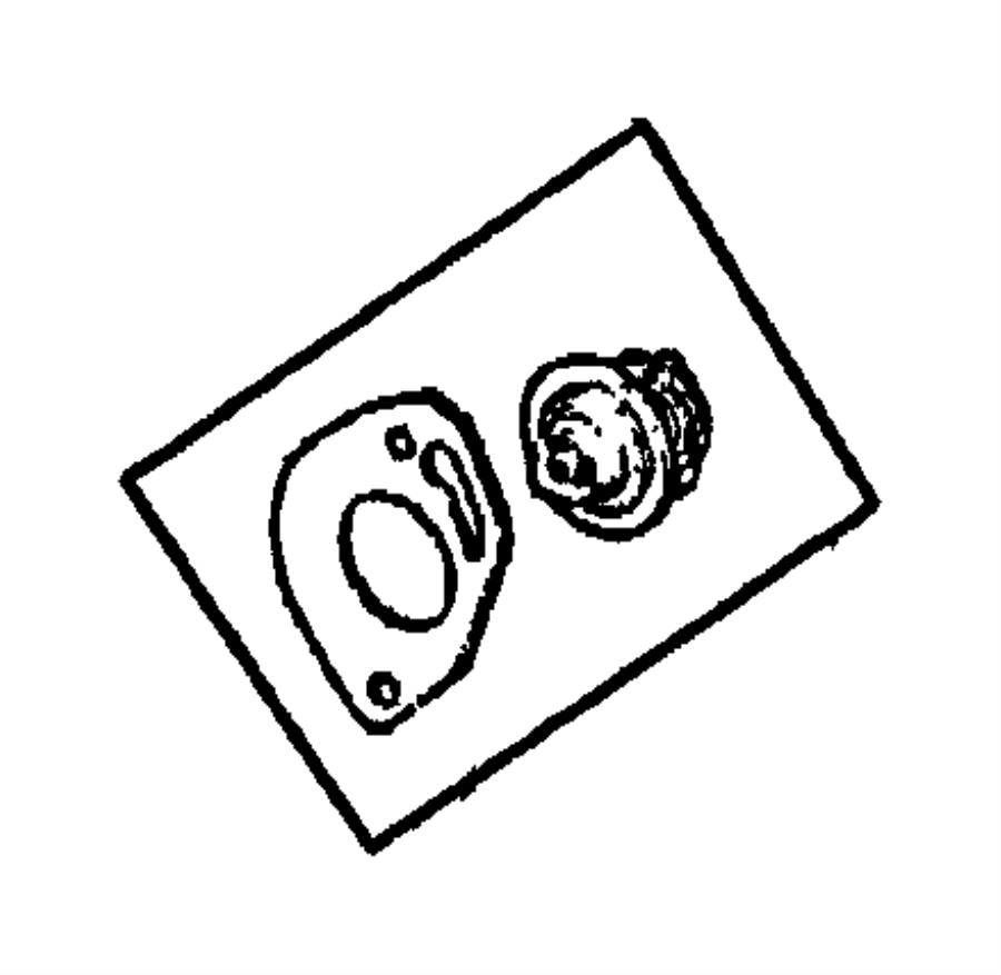 Jeep Liberty Engine Coolant Thermostat. 2.4 LITER. 4