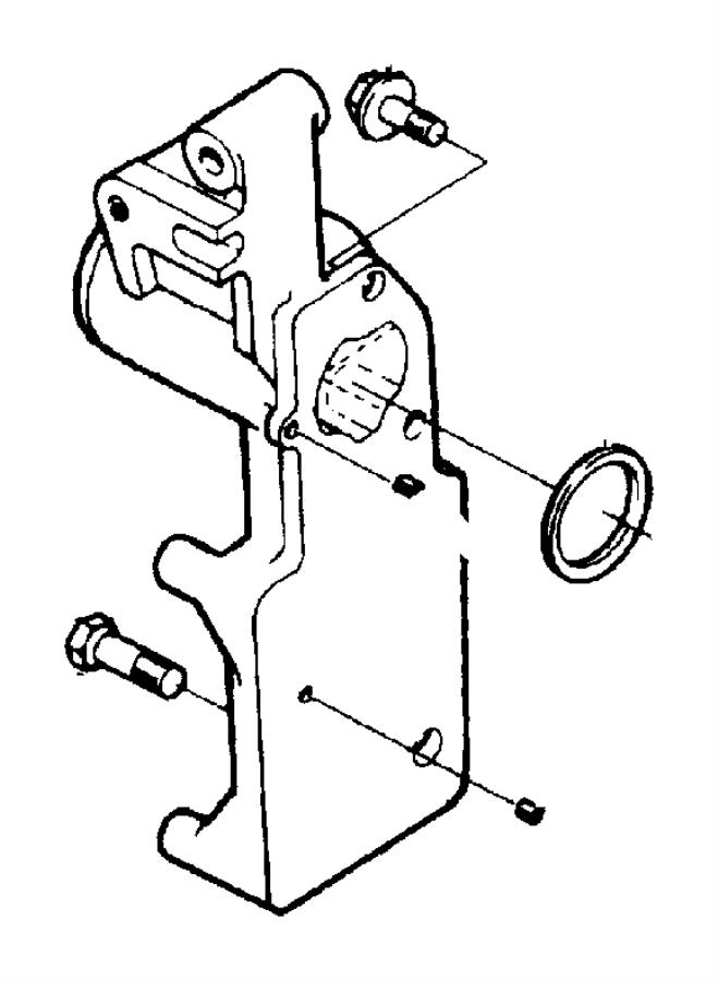 Dodge Ram 2500 Seal. Inlet. Engine. Coolant. Gasket