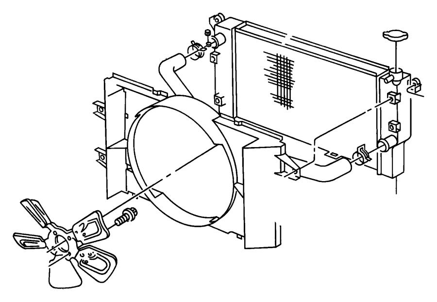 Dodge Ram 2500 Radiator. Engine Cooling. Radiator