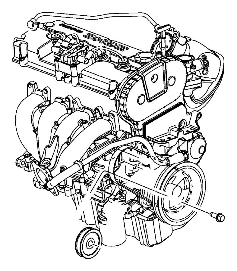 Dodge Stratus Power Steering Pump Pulley. Power Steering