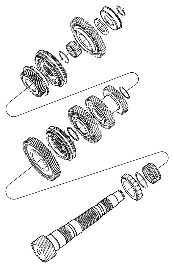Dodge Caliber Bearing. Transmission. Manual. Input. Shaft