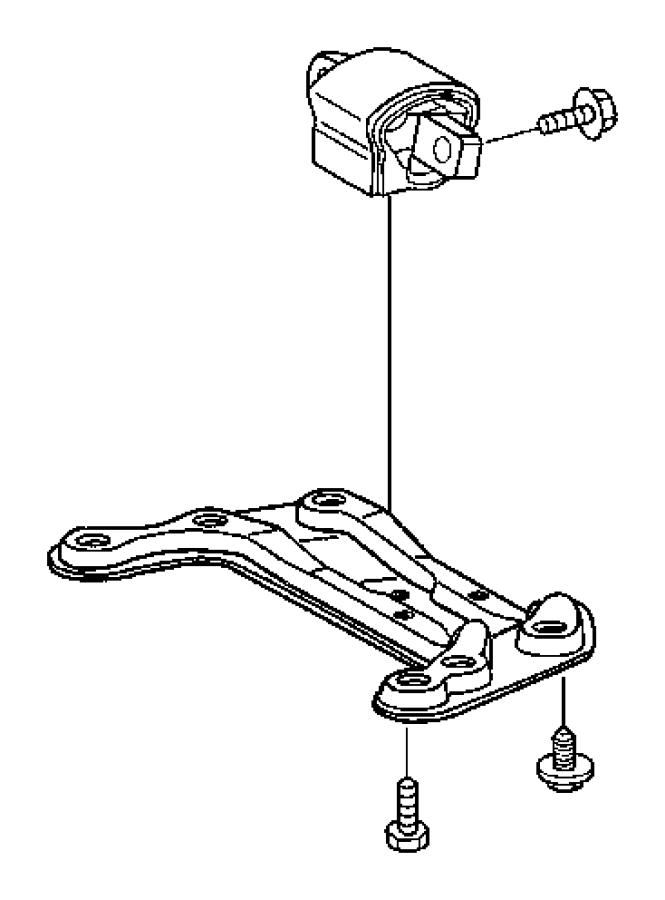 Chrysler Crossfire Transmission. Mount. Crossfire. W/O