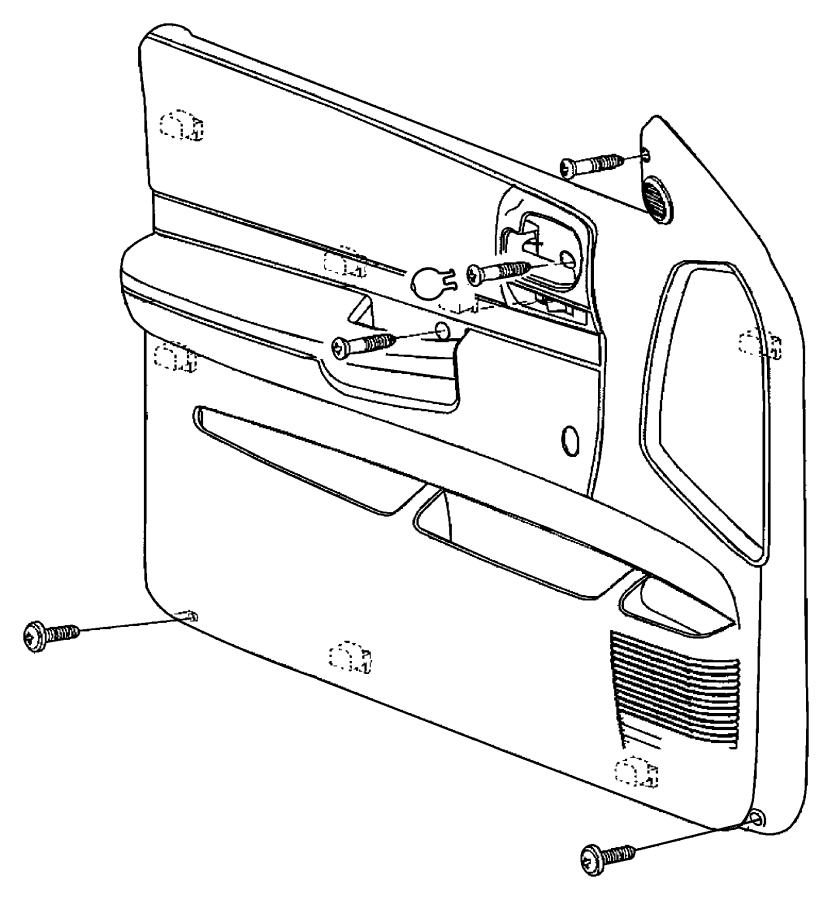 Dodge Dakota Door Interior Trim Panel. Quad Cab, w/power