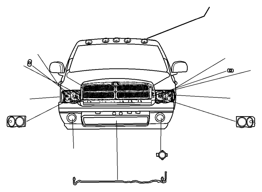 Dodge Ram 1500 Fog Lamp Jumper. Wire connector. Wiring