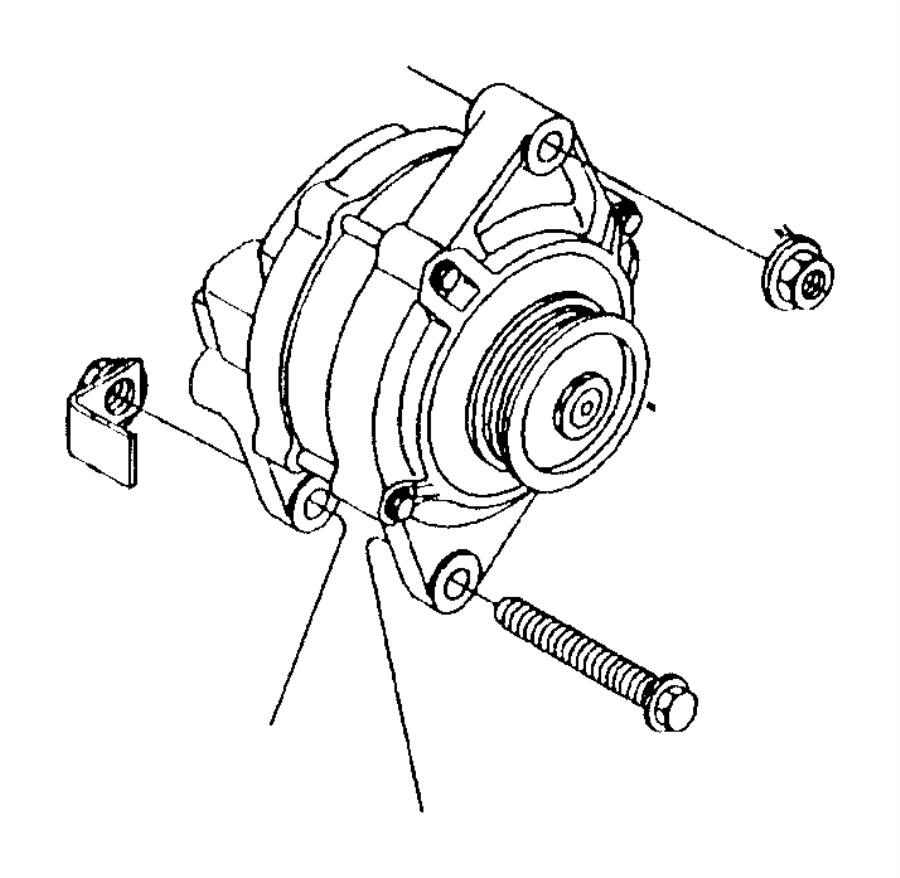 Dodge Caliber Alternator Nut. 2.4 LITER. CONVERTIBLE, 2.4