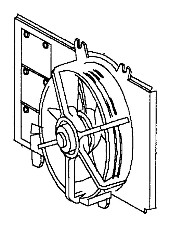 Dodge Neon Engine Cooling Fan Motor. Engine Cooling Fan