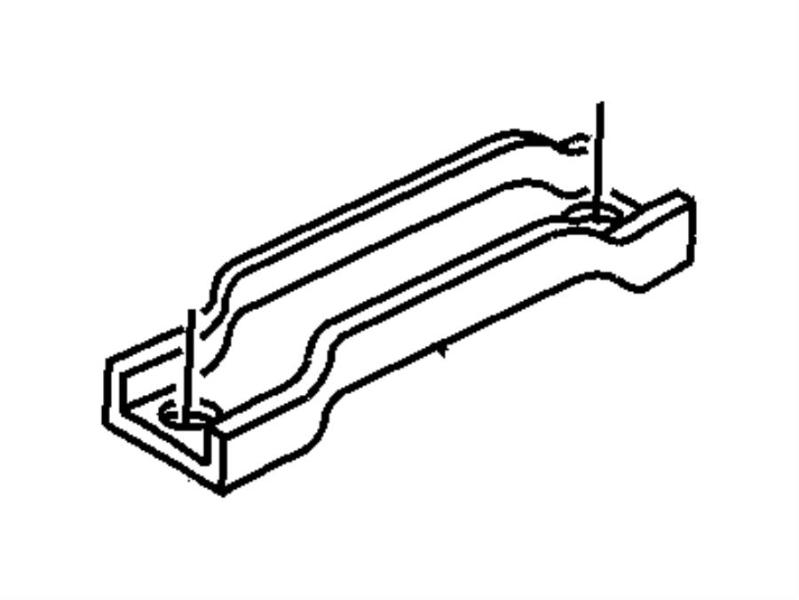 Jeep Wrangler Battery Hold Down Frame. Strap type, upper