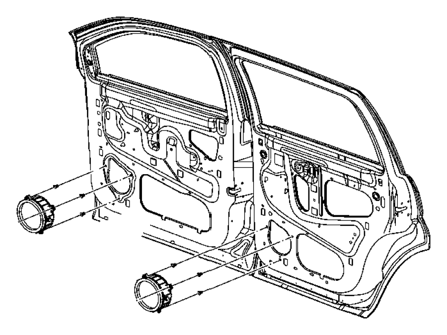 Jeep Grand Cherokee Nut. Door. Speaker. Trim. Panel. 2005