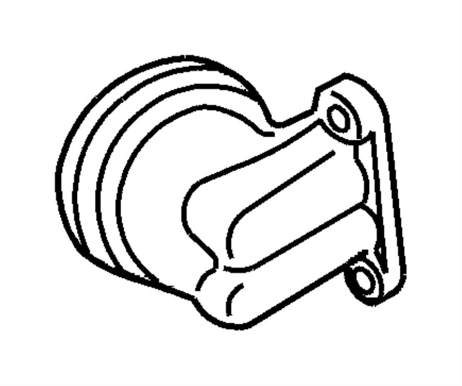 Chrysler PT Cruiser Engine Oil Filter Adapter. Coolant