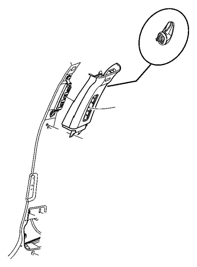 Chrysler 300 Screw. Trim. Panel. PILLAR. Bolt. (Upper