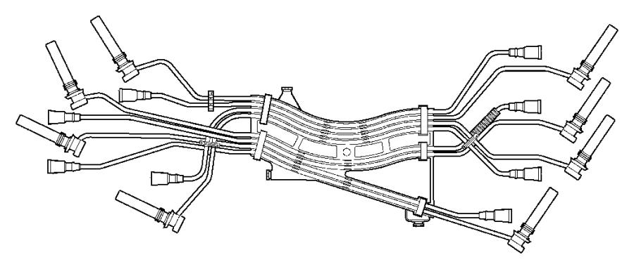 Dodge Ram 2500 Spark Plug Wire Set. Set. Cable. /IGN