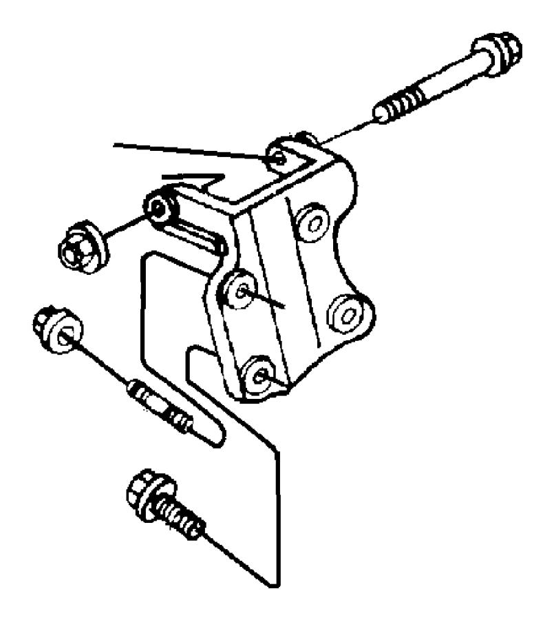 Jeep Wrangler Engine Mount Stud. 2.5 LITER. MOUNTING