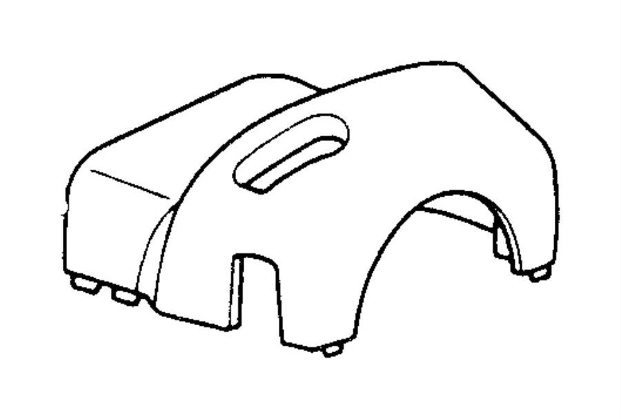 Jeep Wrangler Steering Column Cover. WHEEL, TILT, Upper