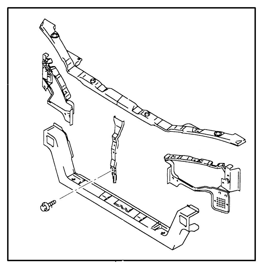 Dodge Avenger Radiator Support Panel. W/o ABS. FCA, Body