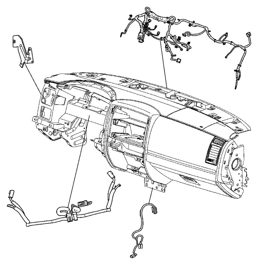 Dodge Dakota Base wiring. W/o heated seats. FCA, CENTER