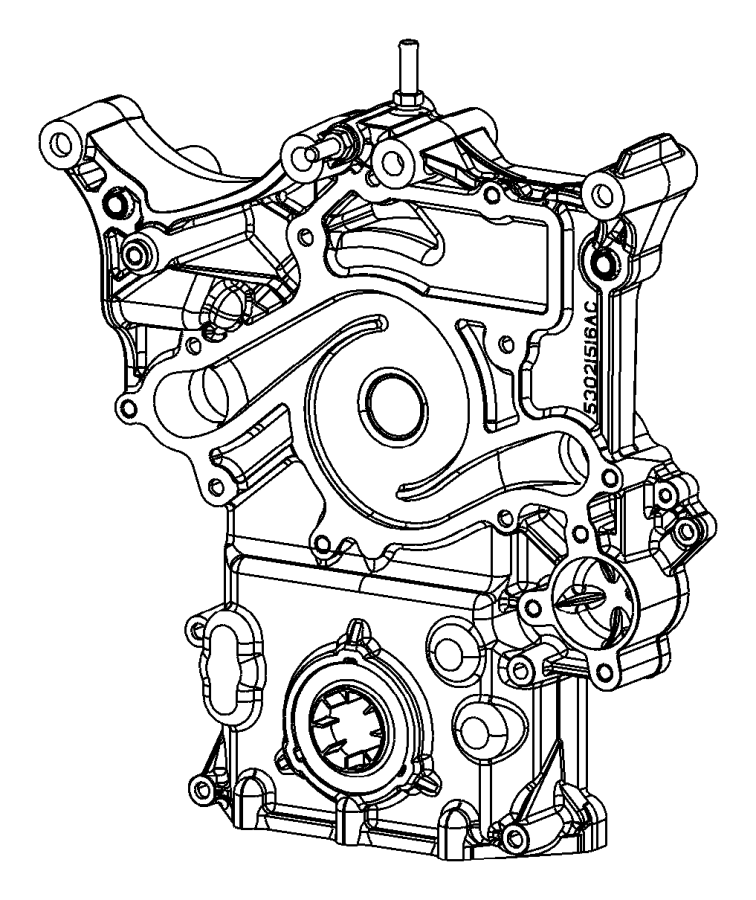 Dodge Charger Engine Timing Cover. LITER, BEARINGS