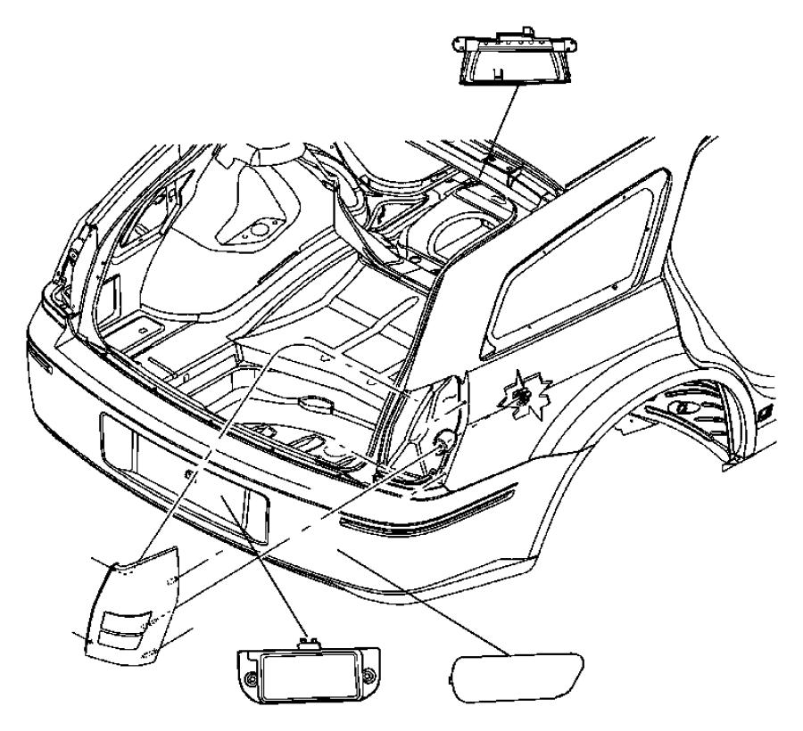 Dodge Charger License. Lamp. Lens. 2008-10. 2011-14
