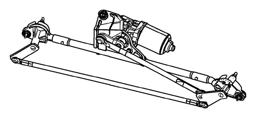 Chrysler PT Cruiser Windshield Wiper Motor. Make, Replace