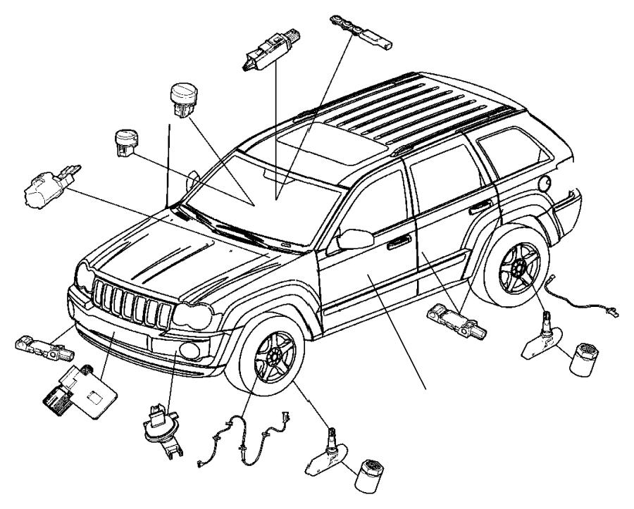 Jeep Grand Cherokee Abs wheel speed sensor (front