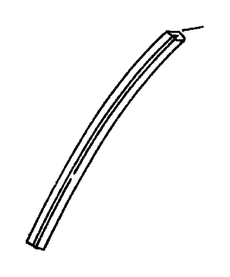 Chrysler Cirrus Window Channel. Lower. Lower, front. DOOR