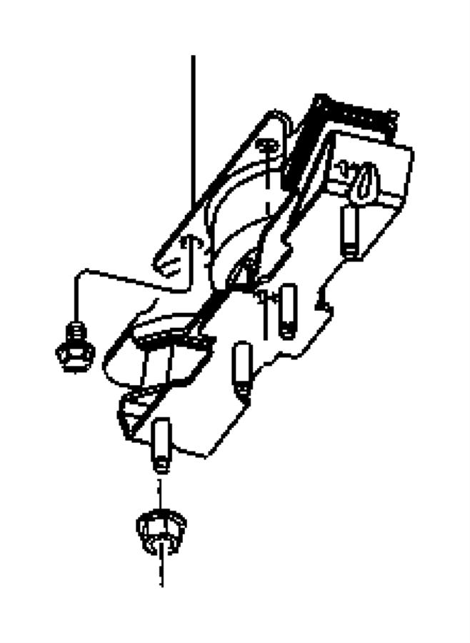 Dodge Ram 1500 Automatic Transmission Mount (Rear