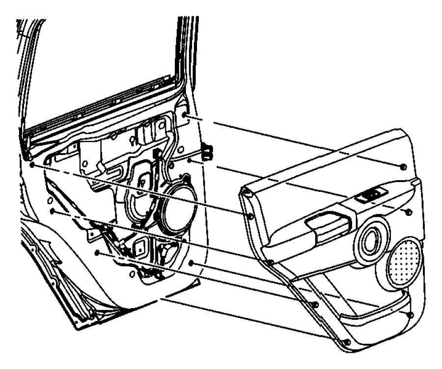 Jeep Grand Cherokee Door. Trim. Panel. Fastener. Retainer