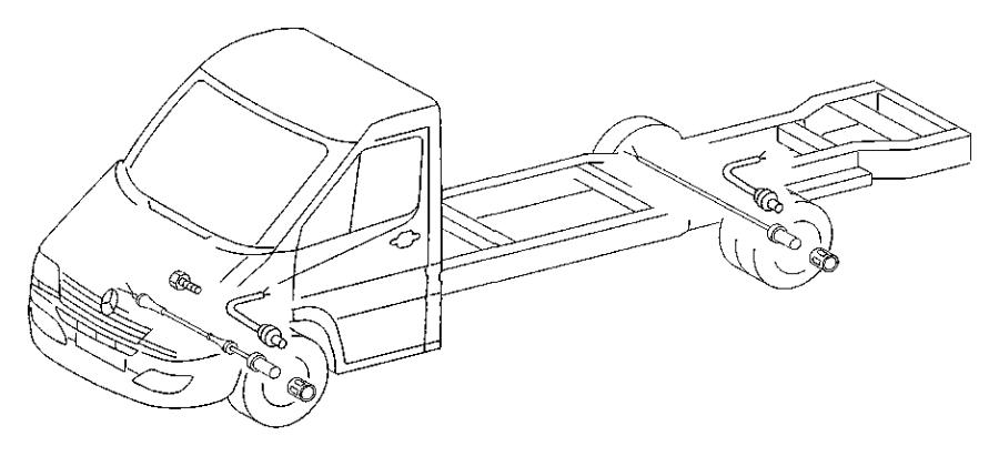 Dodge SPRINTER 3500 Abs wheel speed sensor (rear
