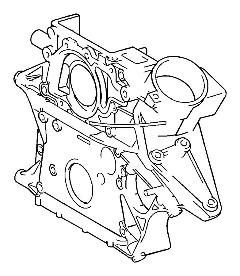 Dodge SPRINTER 3500 Engine Timing Cover (Front). Sprinter