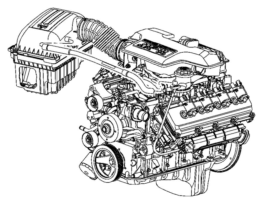 Dodge Ram 1500 Cover. Air. Cleaner. Filter Housing. (Upper