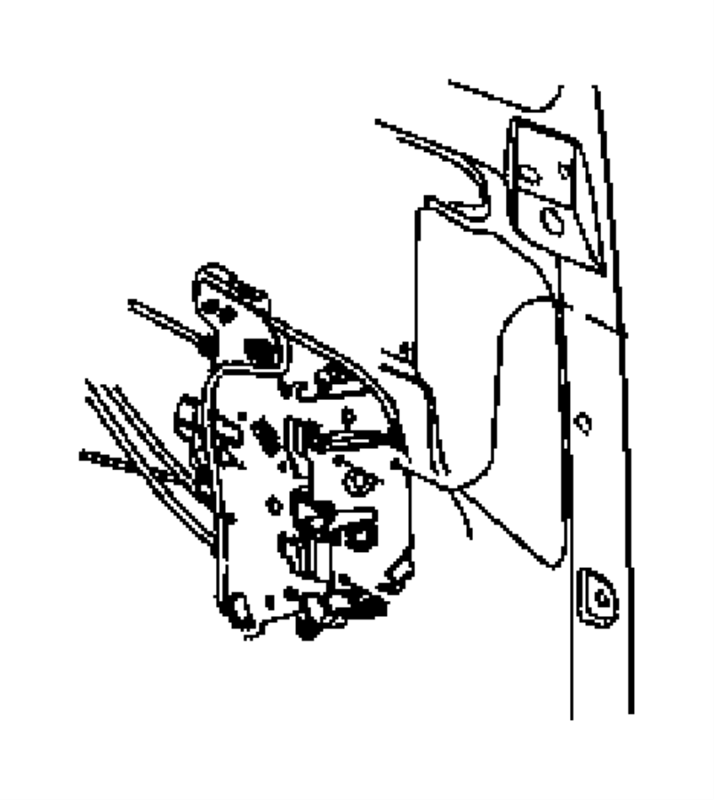Chrysler Town & Country Latch. Lock. Door. Sliding