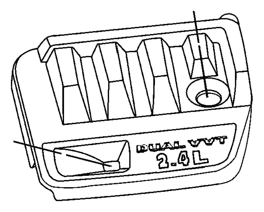 Chrysler Sebring Engine Cover. 2.4 LITER. 2.4 LITER W/O