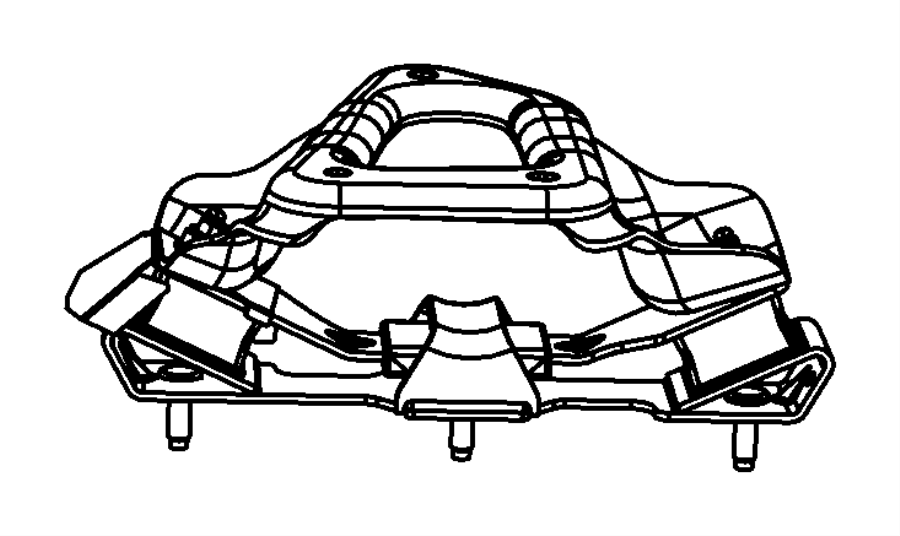 Dodge Ram 1500 Manual Transmission Mount Bracket