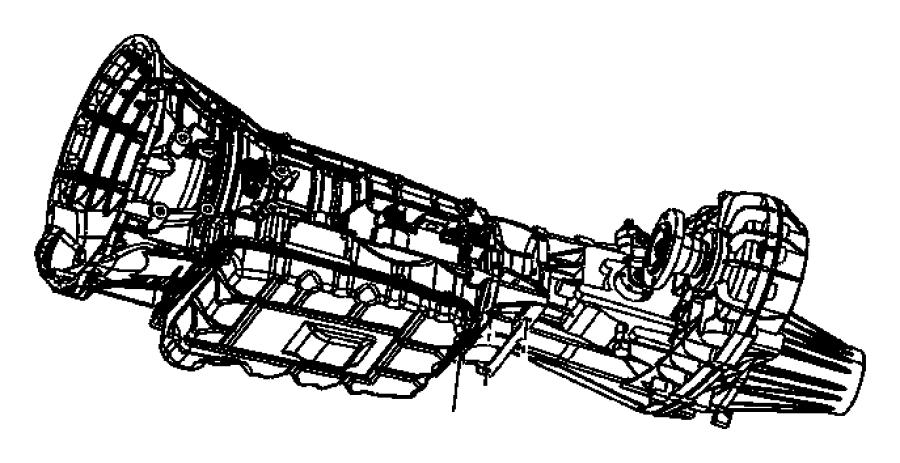 Dodge Ram 1500 Automatic Transmission Mount. Body