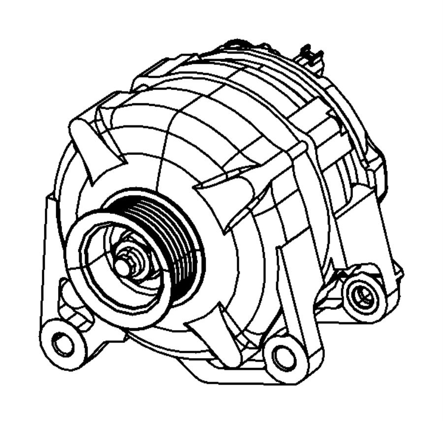 Dodge Avenger Alternator. Engine. Liter, convertible