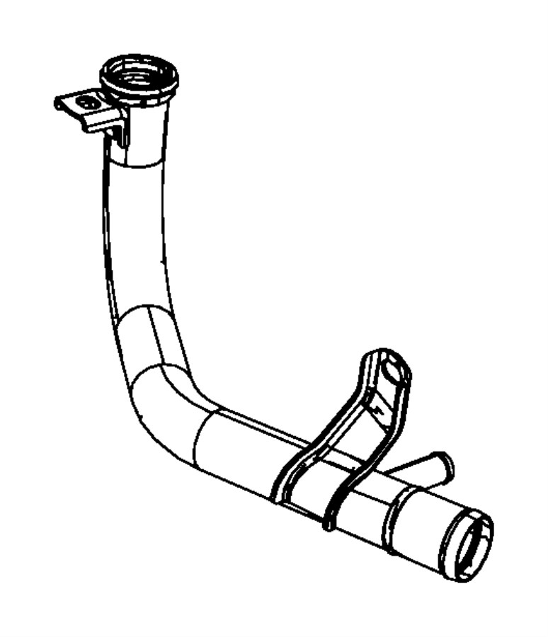 Chrysler Town & Country Engine Coolant Pipe. 3.3 & 3.8