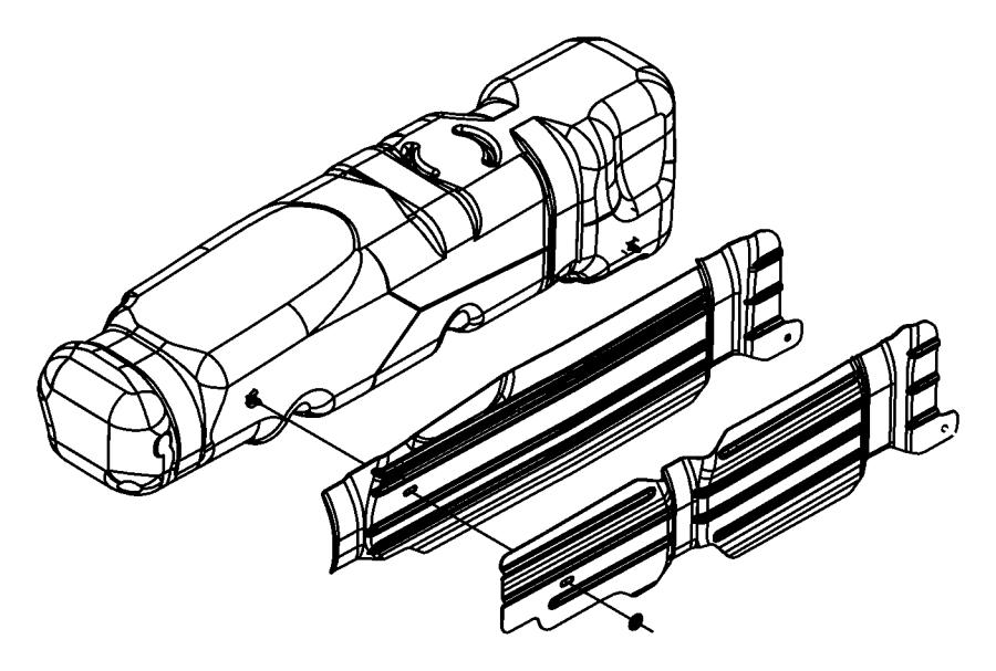 Dodge Ram 1500 Shield. Heat. Fuel. Tank. Exhaust. 35