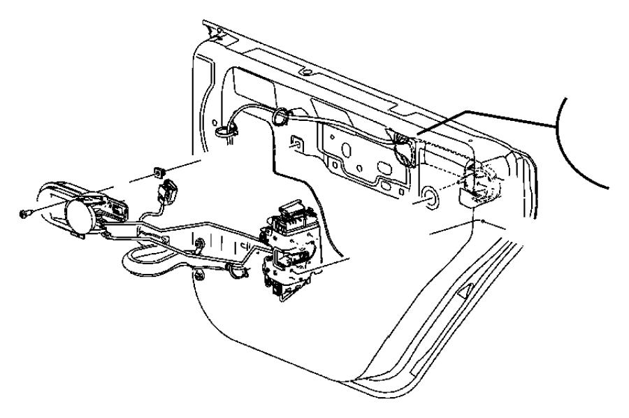 Jeep Wrangler Inside lock to latch. Latch rods. Link. Half