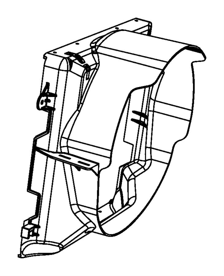 Jeep Wrangler Fan shroud. Includes: fan motor & shroud