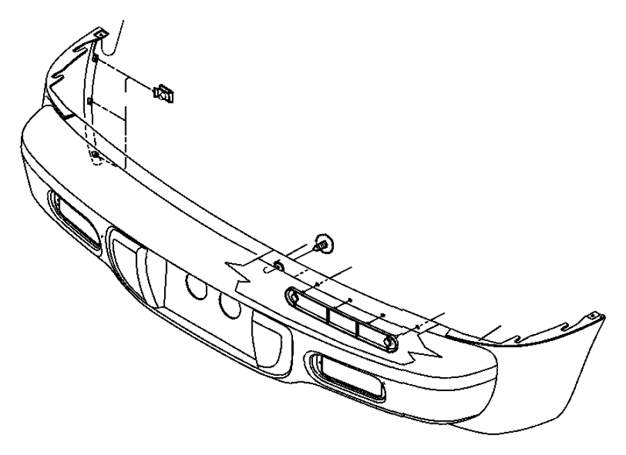 Chrysler PT Cruiser Bumper Cover. W/o turbo. Rear, FCA