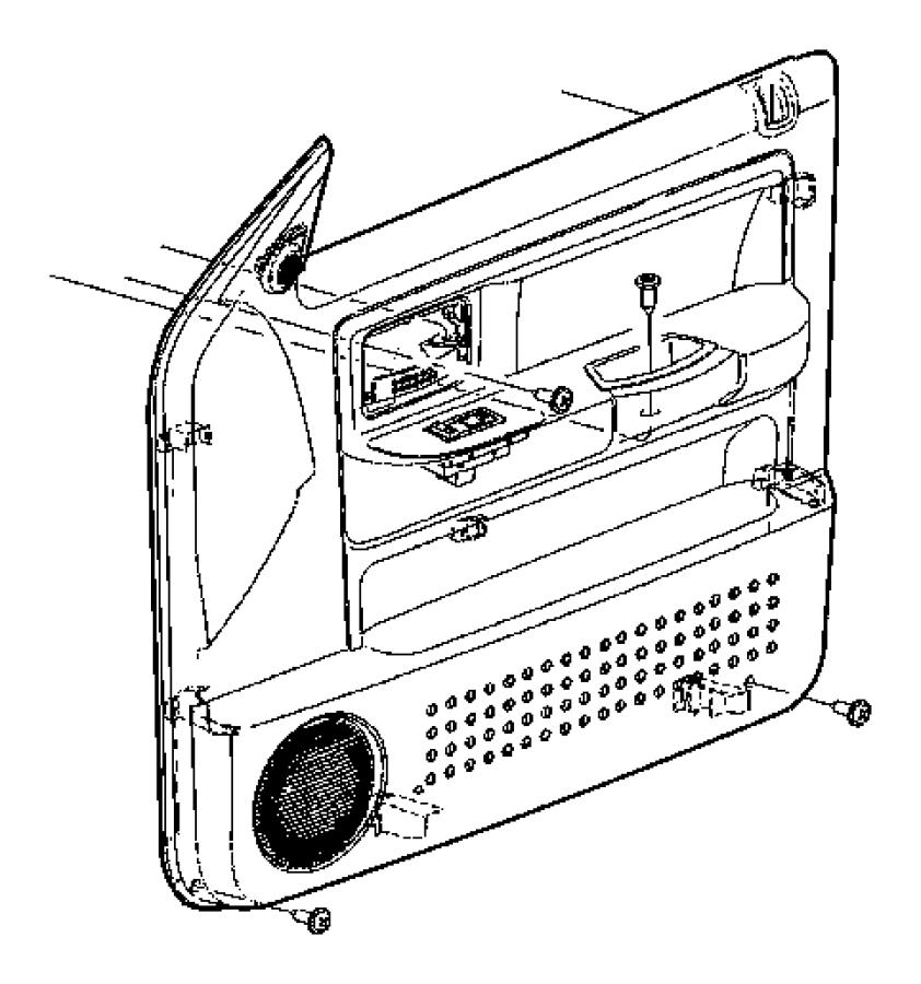 Dodge Dakota Door Interior Trim Panel. Premium vinyl w/6