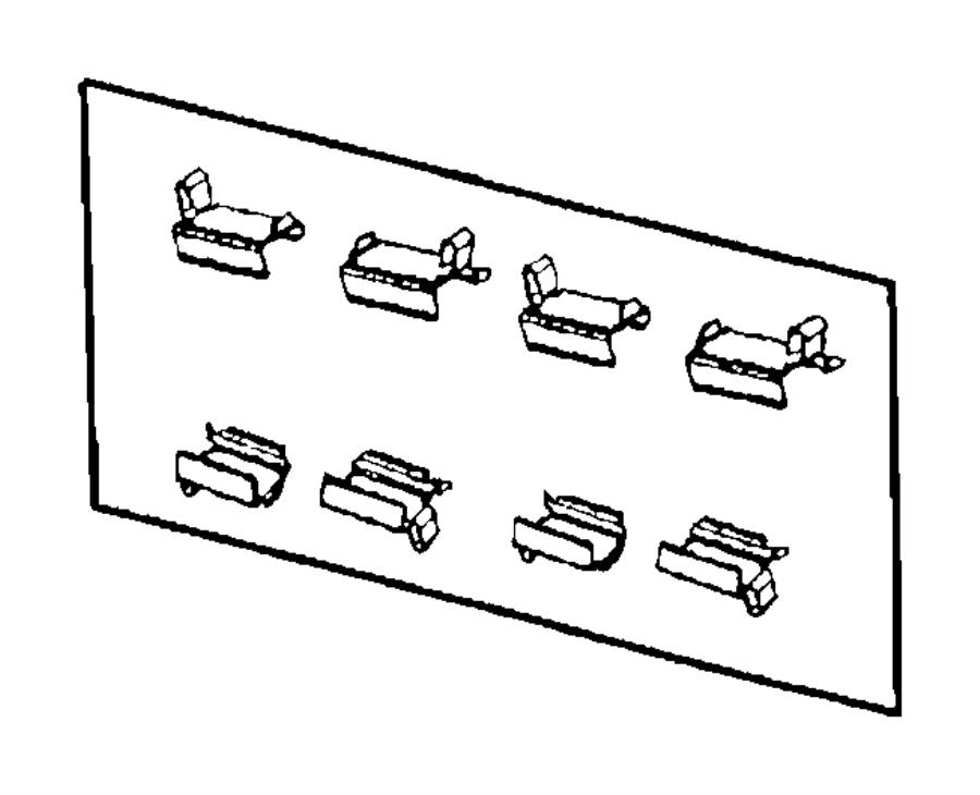Dodge Grand Caravan Disc Brake Anti-Rattle Clip Set. Right