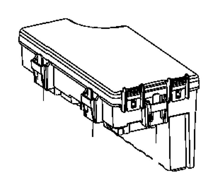 Chrysler Sebring Fuse Box Cover. CONVERTIBLE,. SEDAN